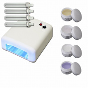 Uv Curing Lamp With Uv Classic Gel Kit -test Kit - 4 X 5 Ml