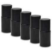 Nailfun 5 Empty Nail Polish Bottles 15 Ml - Opaque Black