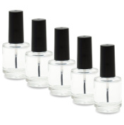 Nailfun 5 Empty Nail Polish Bottles 15 Ml – Transparent/bl