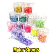 12x Nail Art Glitter Powder Iced Mylar Sheet Decoration 10g Jar #418