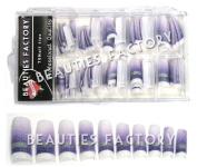Bf Super Glitter Slice Fashion False French Acrylic Nail Tips 70 Pcs #a45nails