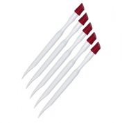 Nailfun Pack Of 5 Cuticle Pushers - White