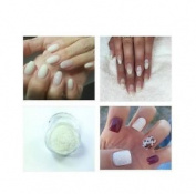 Silver White Clear Acrylic Powder Pre Mixed Glitter Nail Extension Art Design 5g