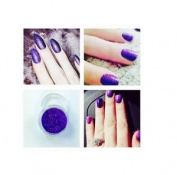 Cadbury Purple Acrylic Powder Pre Mixed Glitter Nail Extension Art Design 5g Pot