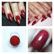 Mermaid Red Holographic Acrylic Powder Pre Mixed Glitter Nail Extension Art 5g