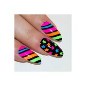 Bling Art Stiletto False Nails Fake Acrylic Pattern Power Full Medium Tips Uk