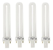 4 X Mylee 9w Replacement Uv Lamp Nail Dryer Bulbs
