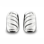 Bohem Silver Jewellery Nail Art Gothic Wave (large - Pair) Large