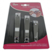 3pc Nail Clipper Pack - Bath Toe Cutters Pedicure Manicure Care Set Remover Cut