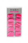 N Salon 100 Coloured Nail Tips - Pink