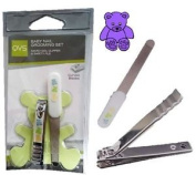 Baby Nail Clippers Safe Grooming Manicure Set Kids Rounded Nail File Childs Care