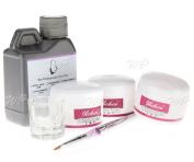 6pcs Nail Art Acrylic Nails Kit Acrylic Powders Acrylic Liquid Brush Dappen Dish