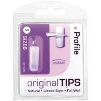 ** Profile Original Tips Size 8 Natural Classic Style Full Well New* False Nails