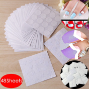 48x 3d Nail Art Transfer Sticker Design Manicure Decal Decoration Tip Guides Set