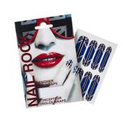 Nail Rock Union Jack Rot, Weiß Und Blau Designer Nagelverpackun