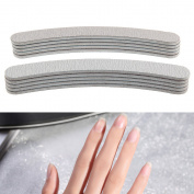 10 X Double Sided 100/180 Grit Nail Files Emery Board Boomerang Manicure