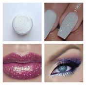 Iridescent Micro Glitter White Sparkle Shimmer Effect Dust Powder Nail Art