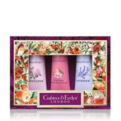Crabtree & Evelyn Florals 3 X 25g Hand Therapy Pack Free P & p