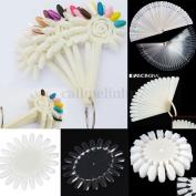 False Nail Art Tips Acrylic Pop Polish Display Fan Practise Wheel Stick Manicure