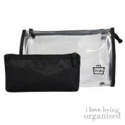 Small Clear Travel Makeup Purse   Black Padded Pencil Case   Caboodles Dynamic