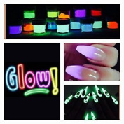 Glow In The Dark Fluorescent Acrylic Powder Pre Mix Nail Extension Art Design