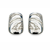 Bohem Silver Jewellery Nail Art Vintage Lace Small - Pair