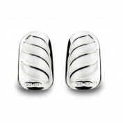 Bohem Silver Jewellery Nail Art Gothic Wave Medium - Pair