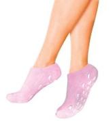 Moisturising Gel Socks Pink Hypo Allergenic Vitamin E Jojoba Lavender Olive Oil
