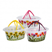 Koopman Flowers Laundry Basket Assorted