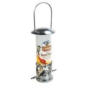 3x Seed Feeder Wild Bird Deluxe Stainless Steel Garden Hanging Wildlife Food