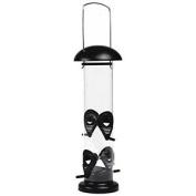 Beeztees Plastic Bird Feeder Dispenser, Large, 13 X 13 X 34 Cm, Black