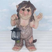 Flame Homeware Troy The Troll Light Up Resin Garden Ornament 12543