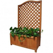 Wooden Planter With Lattice For Vines Garden Climbing Flower Plant Pot Trellis