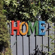 """Colourful Metal """"home Sign"""" Planter Modern Design Suitable For Outdoor/indoor"""