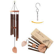 Wind Chime - 5 Hollow Aluminium Metal Tubes Best Large Wood Windchime Deliver