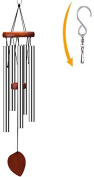 Wind Chimes 7.3m With S Hook, Aluminium And Wood For Outdoor Patio, Garden And