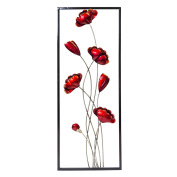 Red Poppies Wall Art   Colourful Hand Painted Metal Garden OrnamentRed Poppy Metal Wall Art Homeware  Buy Online from Fishpond co nz. Metal Garden Ornaments Nz. Home Design Ideas