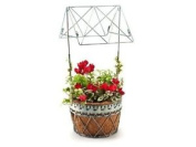 Decorative Metal Wishing Well Planter By Greentree