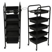 5 Drawer Salon Trolley Hairdresser Colouring Hair Beauty Spa Rolling Storage Cart