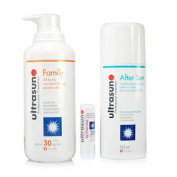 Ultrasun Family Spf30+ Aftersun Gel+ultralip Spf30 3pc Set