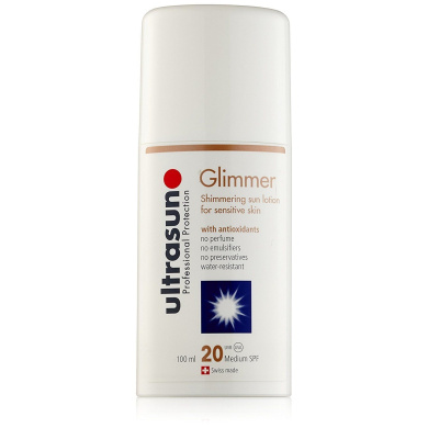 Ultrasun Glimmer Shimmering Sun Lotion Spf20 100 Ml