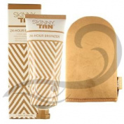 Skinny Tan Instant 24 Hours Bronzer Vegan Friendly Fake Tan Self Tanning & Mitt