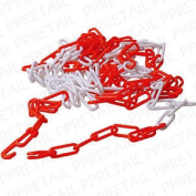 Large 5 Metre Plastic Chain Long Loop Safety Guard Driveway Garden Fence Divide