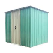 Panana 2.4m X1.2m Metal Garden Double Door Shed Outdoor Storage Tool Box Container