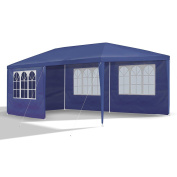 Jom 127146 Gazebo, 3 X 6 M, With 6 Side Walls, 4 With Windows And 2 Without, And