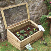 Large Cold Frame 83cm Wooden Garden Planters With Lid Grow Box Mini Greenhouse