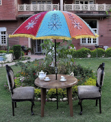 Uml03812 Indian Decorative Handmade Garden Umbrella Parasol Large 133 X 183 Cm