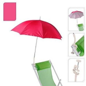 Pro Beach Pink Leightweight Clip On Chair Parasol Beach Parasol Flexible Neck On