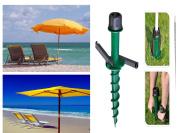 42cm, Ground Sleeve Parasol Stand & Spike Umbrella Holder Fishing Garden, Beach
