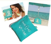 Solboy® Beach Umbrella Stand Turquoise - Parasol And Umbrella [Special Edition]